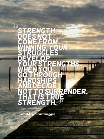 Image result for true strength isn't being strong