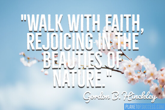 The beauties of nature quote