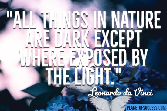 Exposed by the light quote