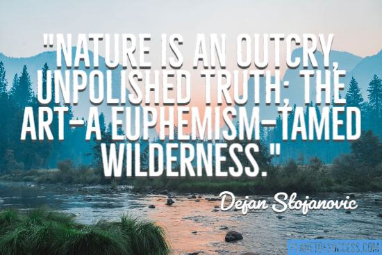 Nature is an outcry quote