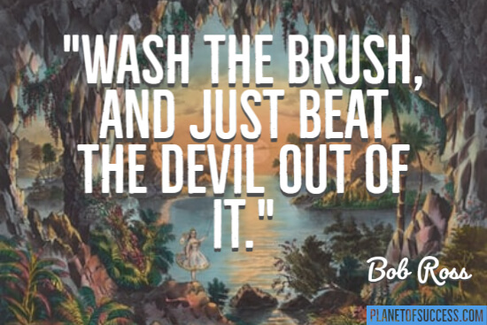 Wash the brush