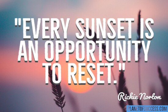 An opportunity to reset
