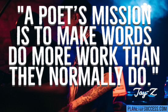 A poet's mission