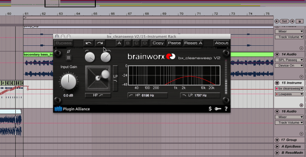Brainworx bx_cleansweep V2 - Plugin Alliance