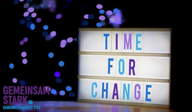 Time for change DW CD Umfr.+Logo