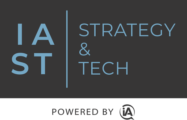 IAST   Strategy and Tech Logo with Powered By in Grey PollDaddy
