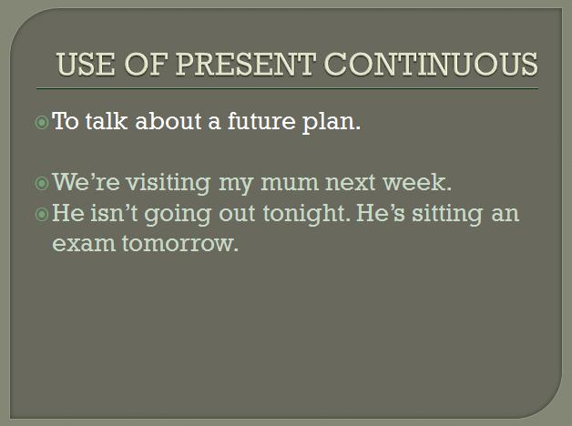 present continuous 12
