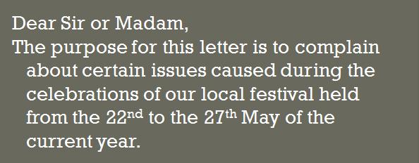 letter of complaint7