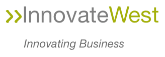InnovateWest Innovating Business Logo (Juniper Green) PNG