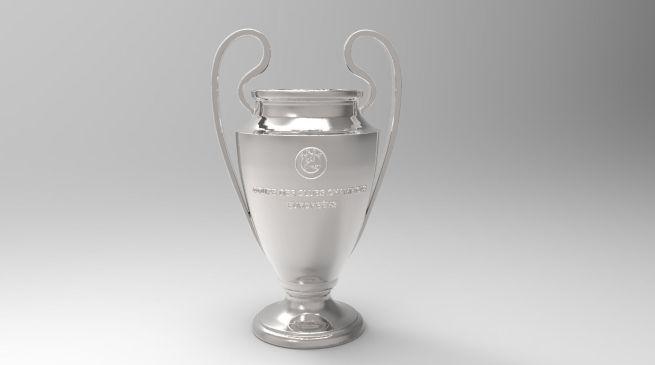 uefa champions league trophy 3d printable 3d model obj mtl stl
