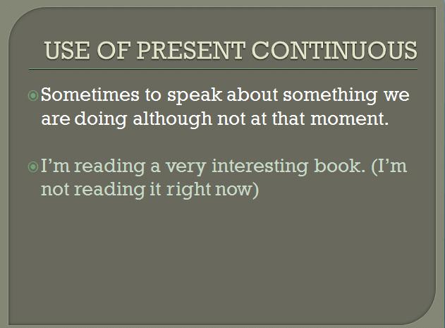 present continuous 8