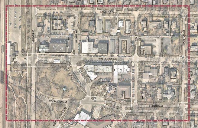 Lake Bluff Downtown Project Map