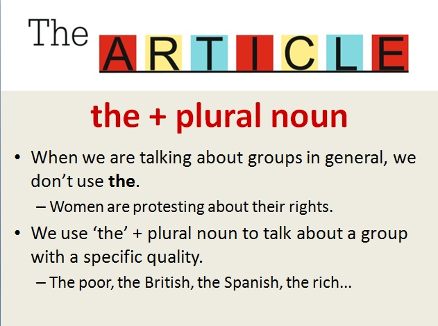 art and plurals