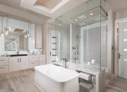 The 2018 New American Home  Kitchen and Bath Highlights     In The New American Home  high tech showers  shapely tubs  and elegant