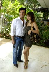 Kim Sharma & Carlos Marin at Surily Goel's IPL collection launch at Ensemble.