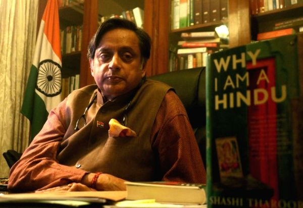 Shashi Tharoor during an interview with IANS