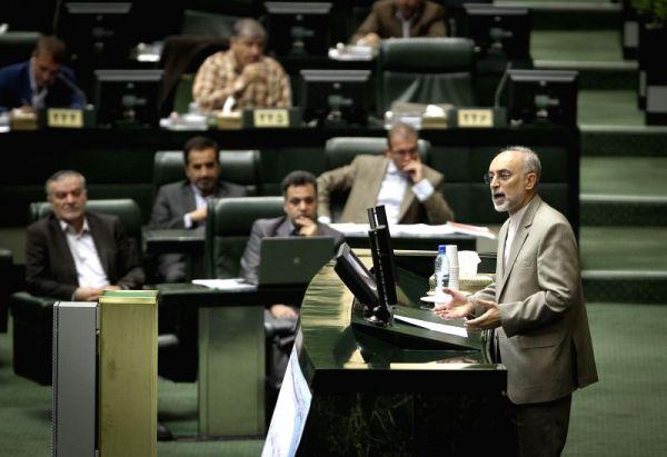 IRAN-TEHRAN-NUCLEAR-PARLIAMENT-SALEHI