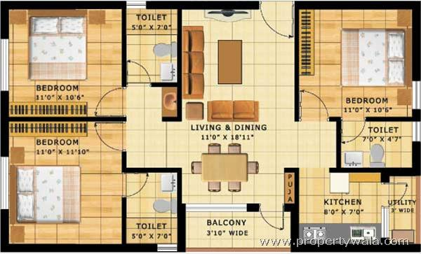 2 Bhk Independent House Plans In India Trends Home Design Images