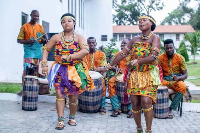 Danseurs traditionnels ghanéens