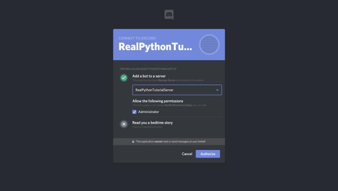 Discord: Ajouter Bot à un serveur