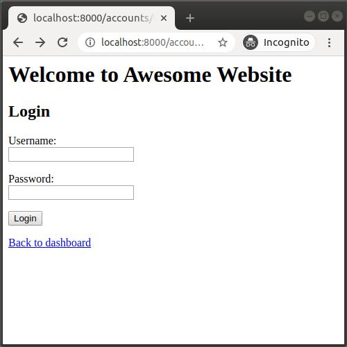 Page de connexion