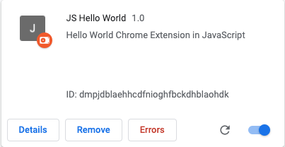 Extension Error
