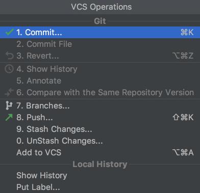 Opérations VCS à PyCharm