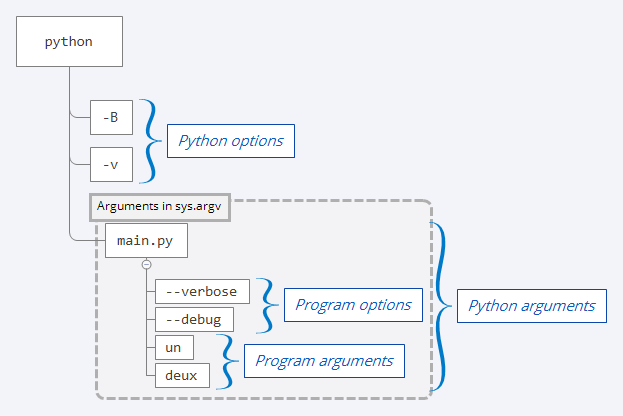 Anatomy of the Python Command Line Arguments