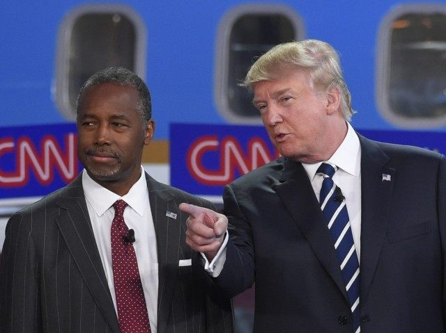 Image result for Carson and Trump