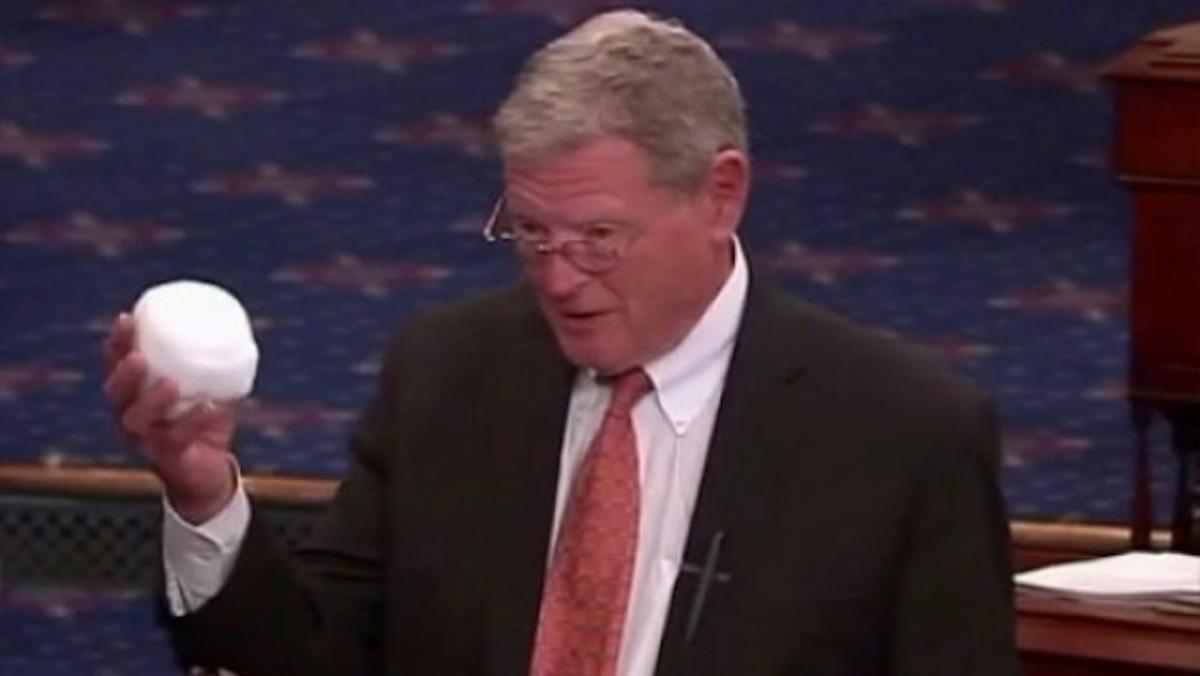 Sen. Jim Inhofe (R-OK) explains climate change