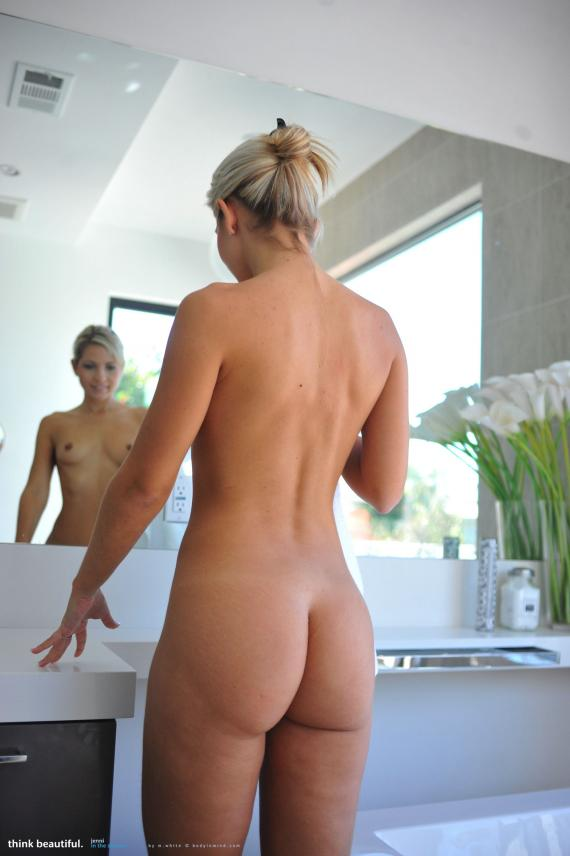 Jenni Gregg, blonde, nude, shower, towel