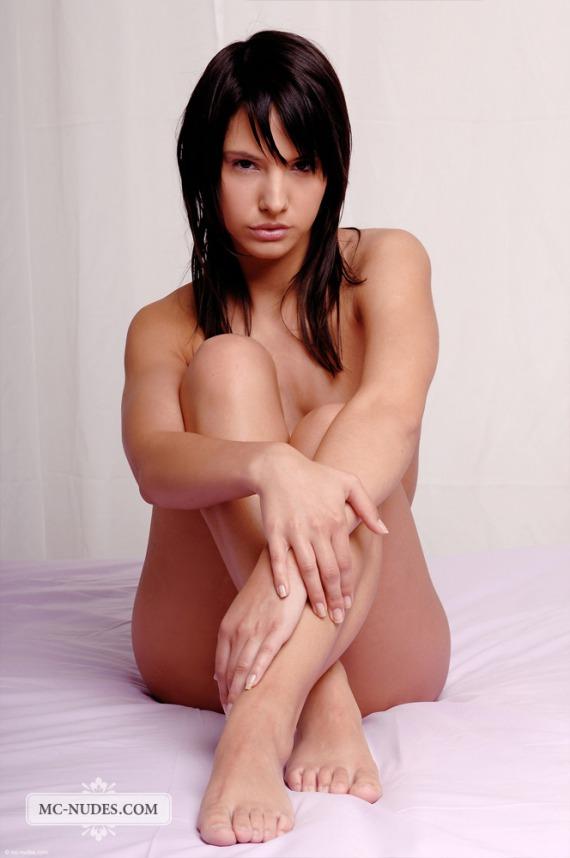 Monika Vesela, brunette, nude, boobs, pose