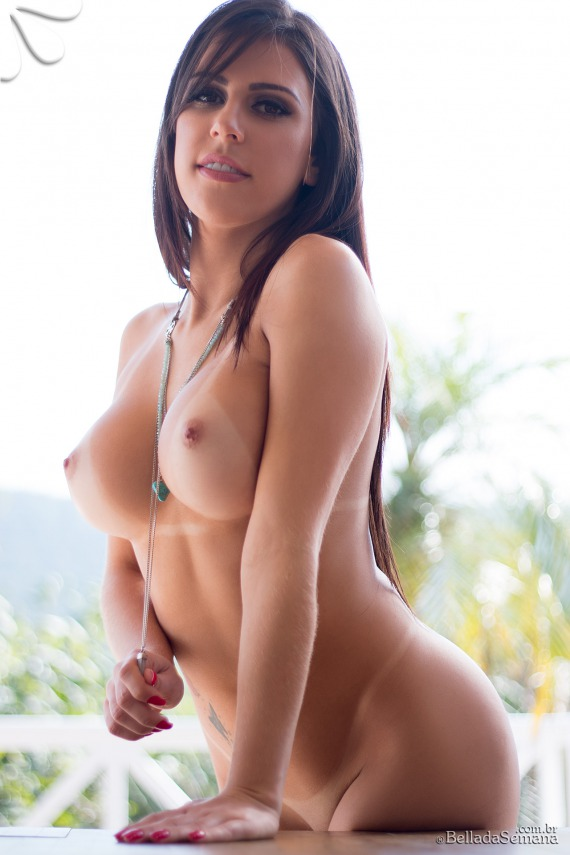 Suelen Castro, brunette, topless, strip, ass, tan lines