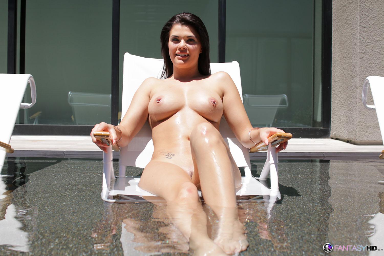 Gracie Dai, brunette, bikini, strip, nude, shaved, trimmed, piercing