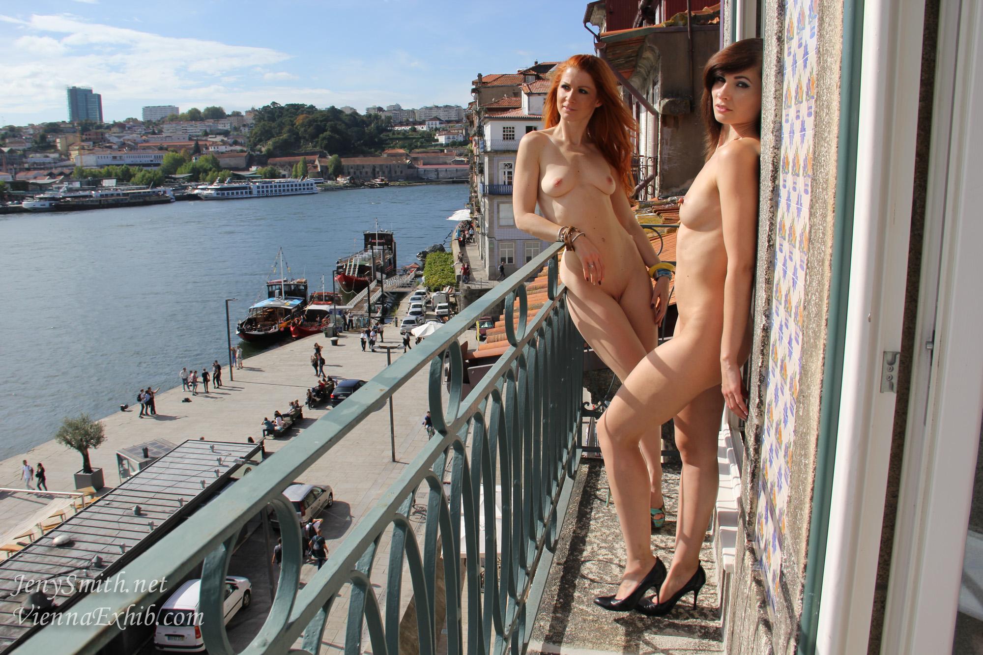 Jeny Smith, Vienna Love, brunette, redhead, naked, shaved