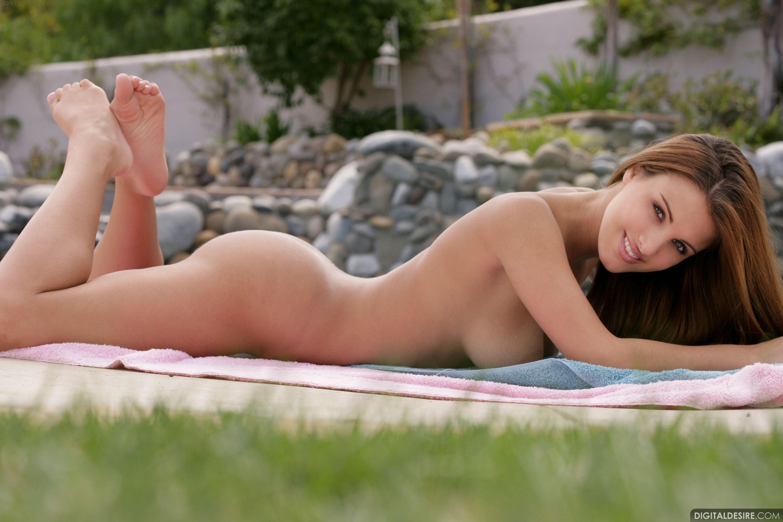 Andie Valentino, brunette, strip, nude, busty, ass, bikini
