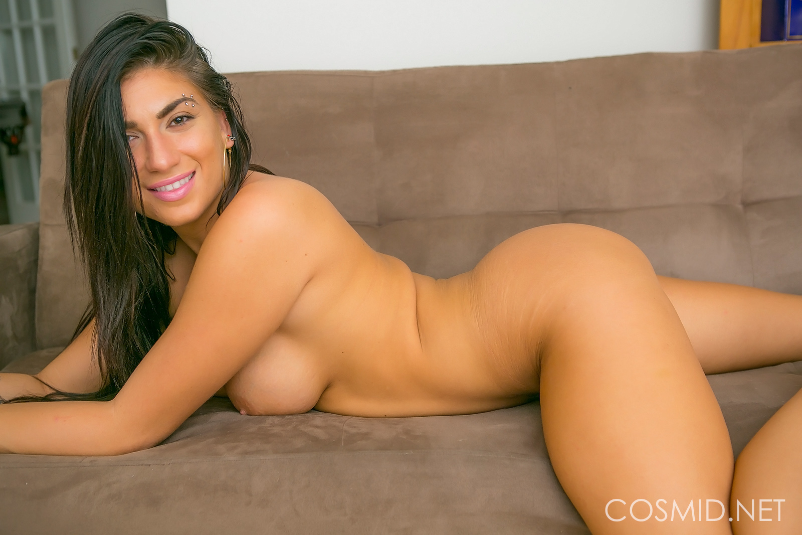 Chloe Parsa, brunette, strip, nude, boobs, pose