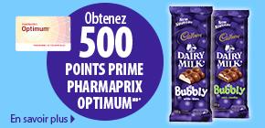 b cadbury pf - Pharmaprix: Plusieurs offres pour multiplier vos points Optium
