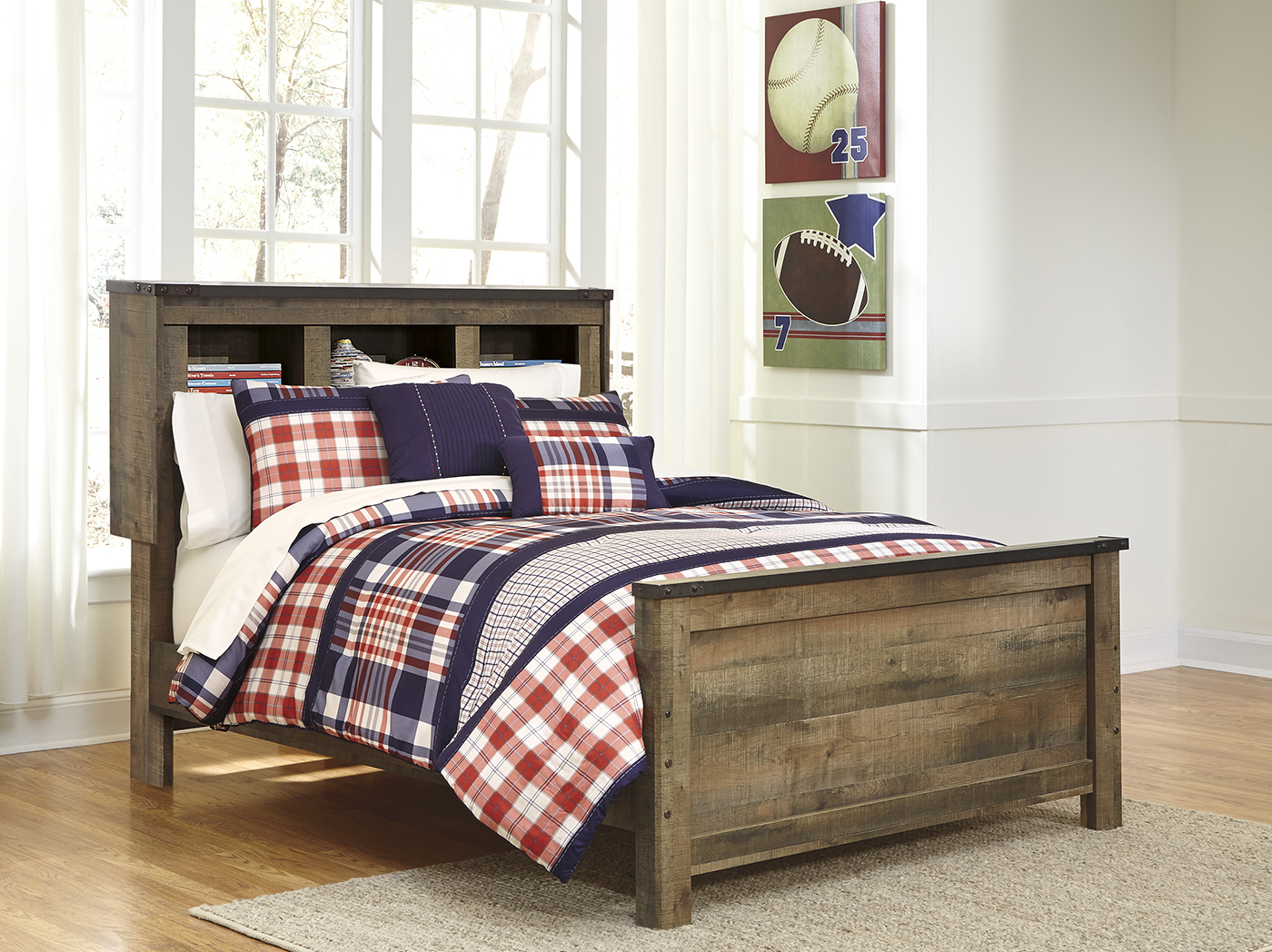Trinell Full Bookcase Bed