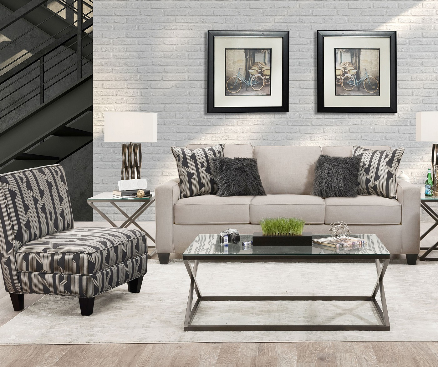 tamarind sofa with free armless accent chair