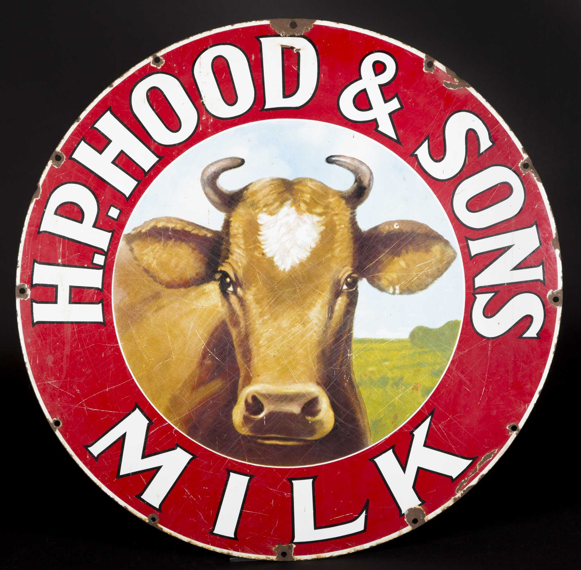 HP Hood And Sons Milk Single Sided Metal Sign