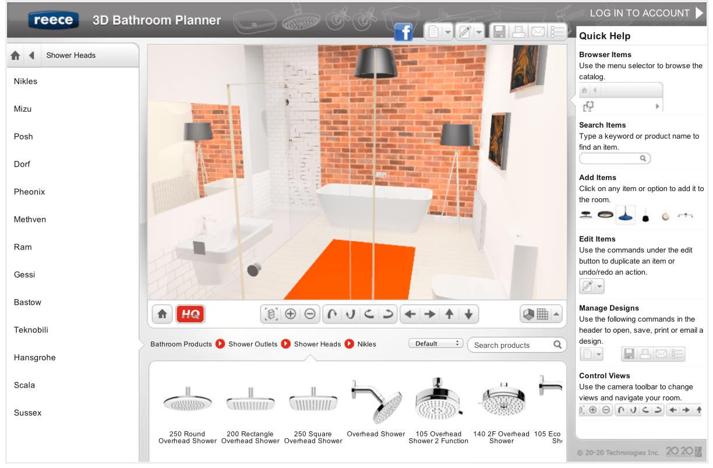 New Easy Online 3D Bathroom Planner Lets You Design
