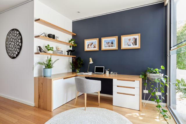 Real home: Melbourne townhouse features layers of navy