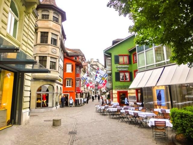 The city center of Zurich, Switzerland