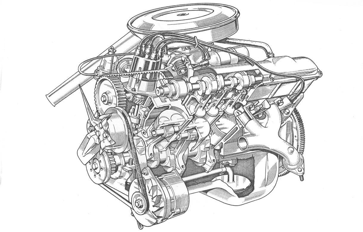 Vauxhall Slant 4 Engine