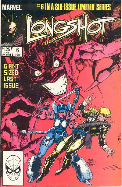 Cover for Longshot (Marvel, 1985 series) #6 [Direct Edition]
