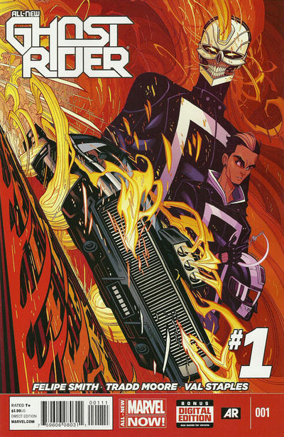 Cover for All-New Ghost Rider (Marvel, 2014 series) #1