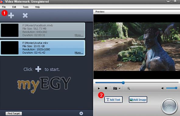 برنامج الكتابة على الفيديو بالعربي myegy