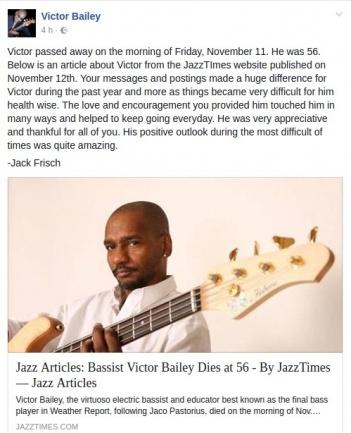 Victor Bailey Comunicado