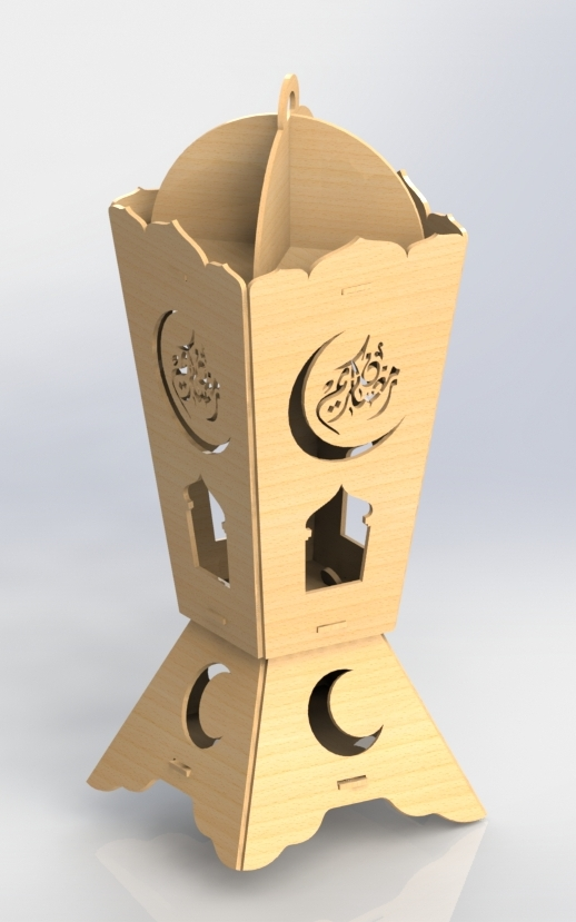 Ramadan Wood Laser Cutting DXF File - Free Download Files Cnc